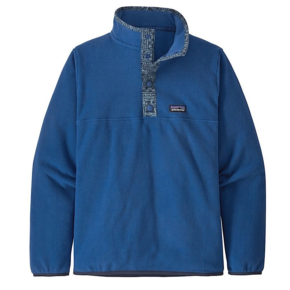 Patagonia Boys Micro D Snap-T Pull Over - Superior Blue