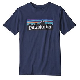 Patagonia Patagonia Boys P6 Logo Organic T-Shirt - New Navy