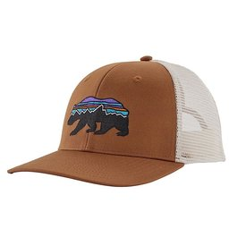 Patagonia Patagonia Trucker Hat - Fitz Roy Bear - Earthworm Brown