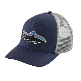 Patagonia Patagonia Trucker Hat - Fitz Roy Trout - Classic Navy