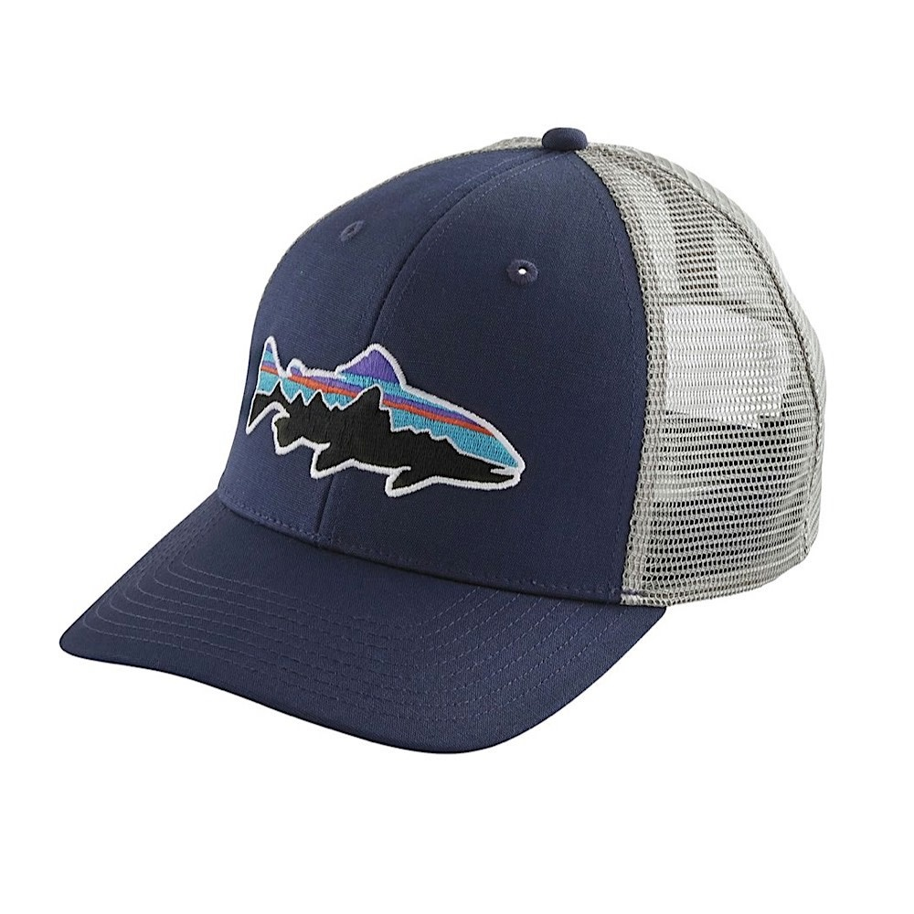 Patagonia Trucker Hat - Fitz Roy Trout - Classic Navy