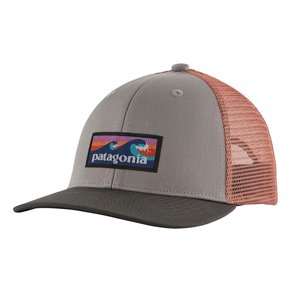 Patagonia Trucker Hat Kids - Boardshort Logo - Drifter Grey