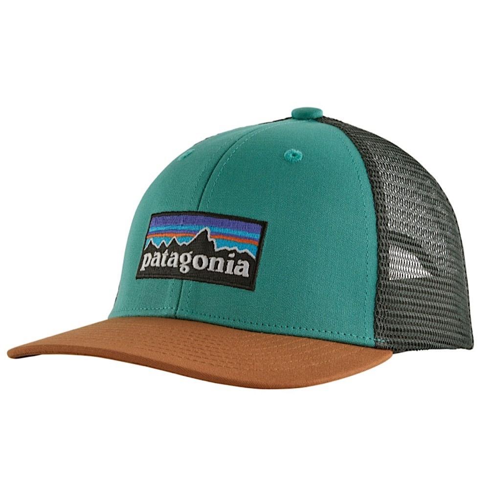 Patagonia Trucker Hat Kids - P6 Logo - Light Beryl Green