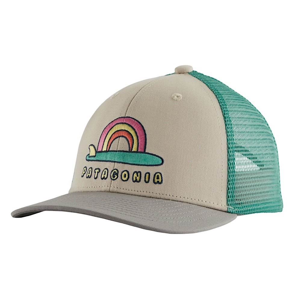 Patagonia Trucker Hat Kids - Single Fin Sunrise - Pumice