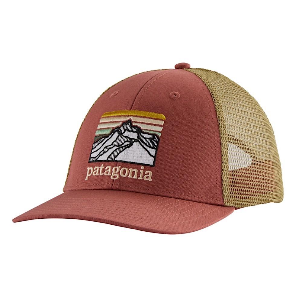 Patagonia Trucker Hat LoPro - Line Logo Ridge - Spanish Red
