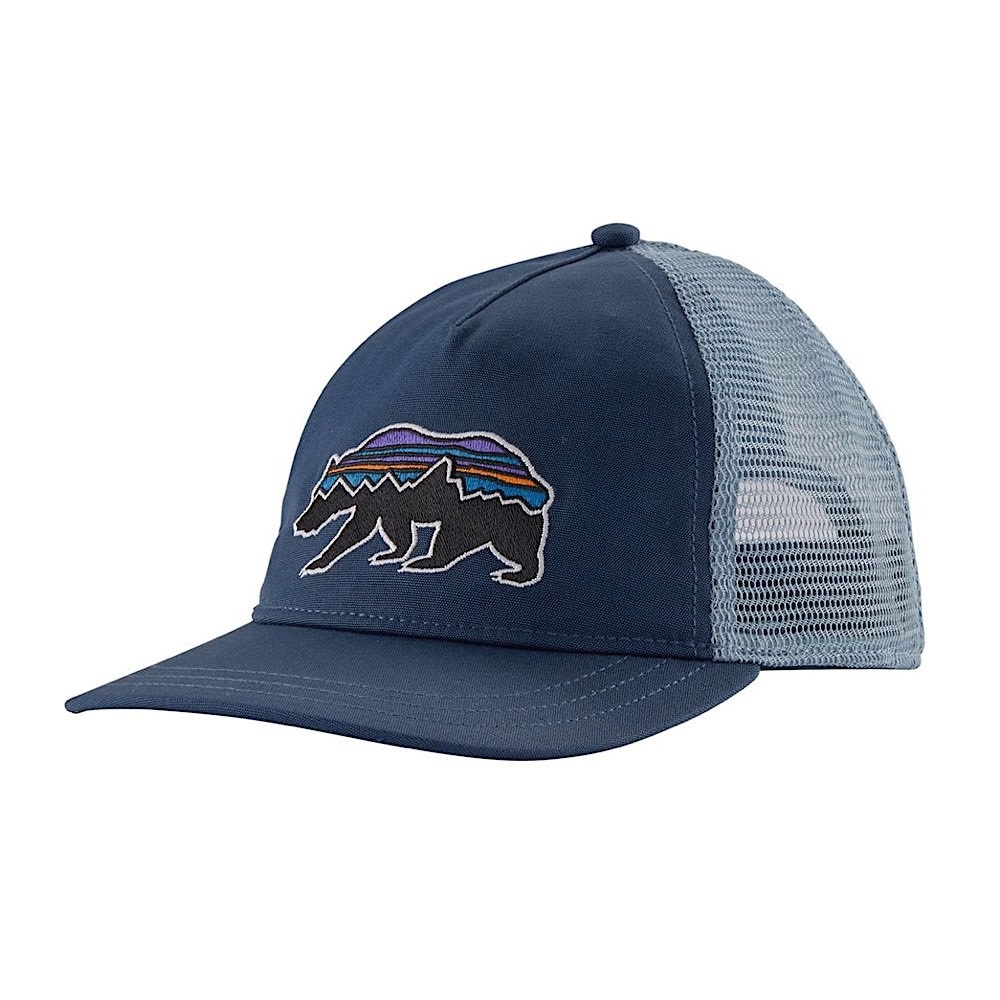 Patagonia Trucker Hat Womens Layback - Fitz Roy Bear - Stone Blue