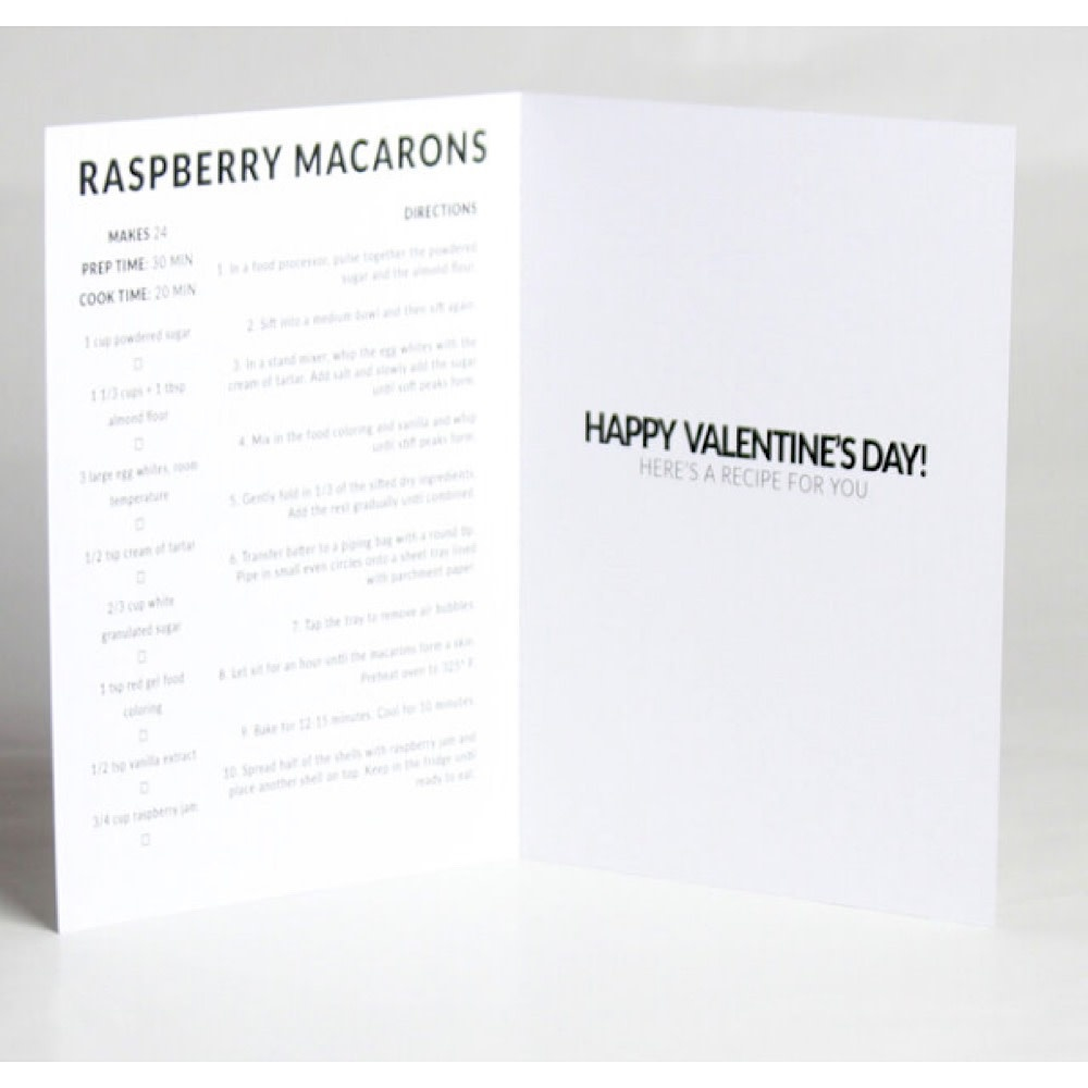 Happy Cooking Cards - Recipe Card - Raspberry Macaron