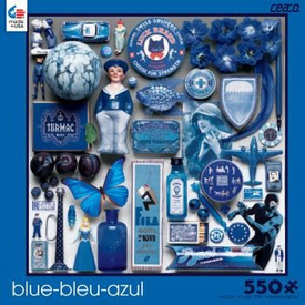 Ceaco Puzzle - Color Study Blue - 550 Pieces - Blue