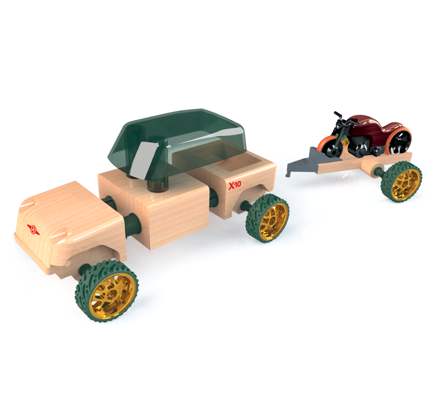 Kid O Products Automoblox Mini X10 Timber Pack