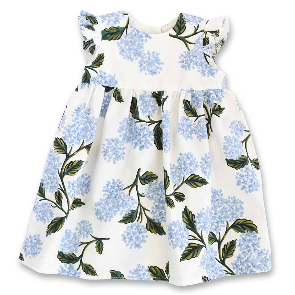 Two Little Beans - Ruffle Dress - Hydrangea