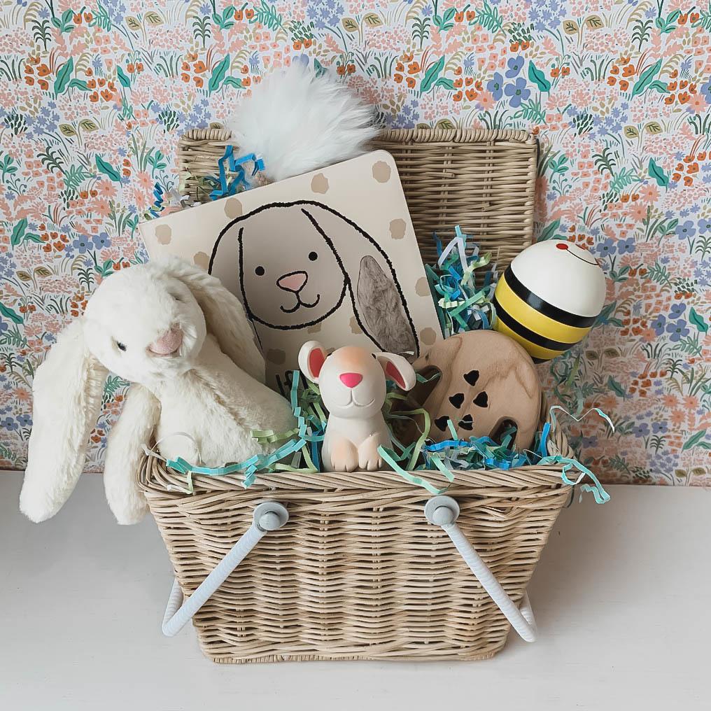 Daytrip Society Heirloom Easter Basket - Natural Baby