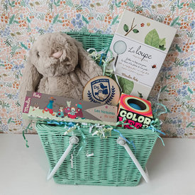Daytrip Society Heirloom Easter Basket - Mint