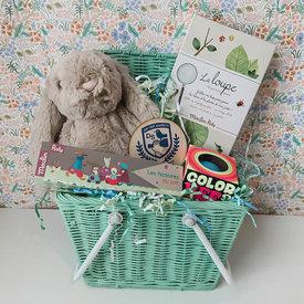 Daytrip Society Heirloom Easter Basket - Mint