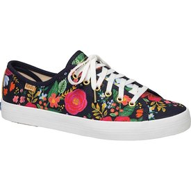 KEDS KEDS Adult + Rifle Paper Co. - Kickstart / Wild Rose - Navy