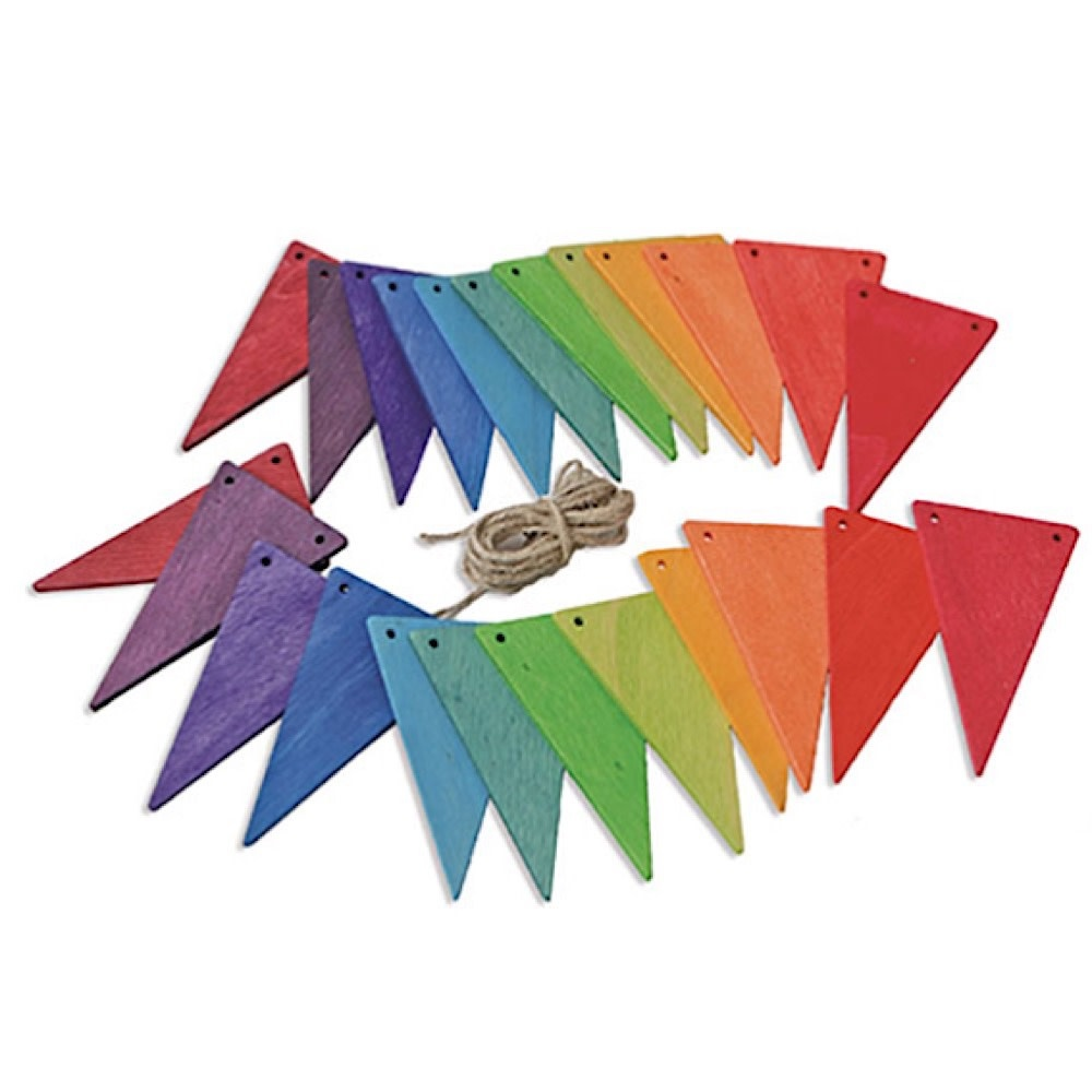 Grimms Grimms Pennant Banner - Rainbow