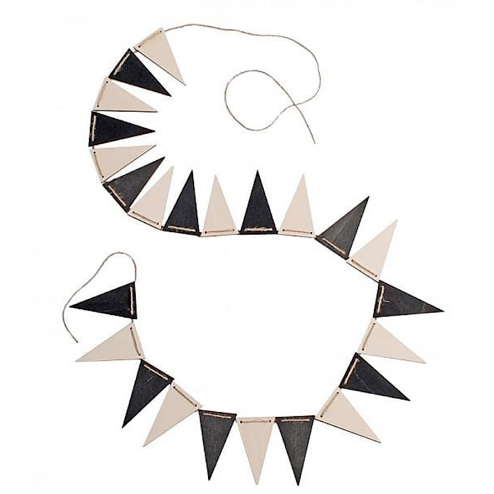 Grimms Pennant Banner - Black and White