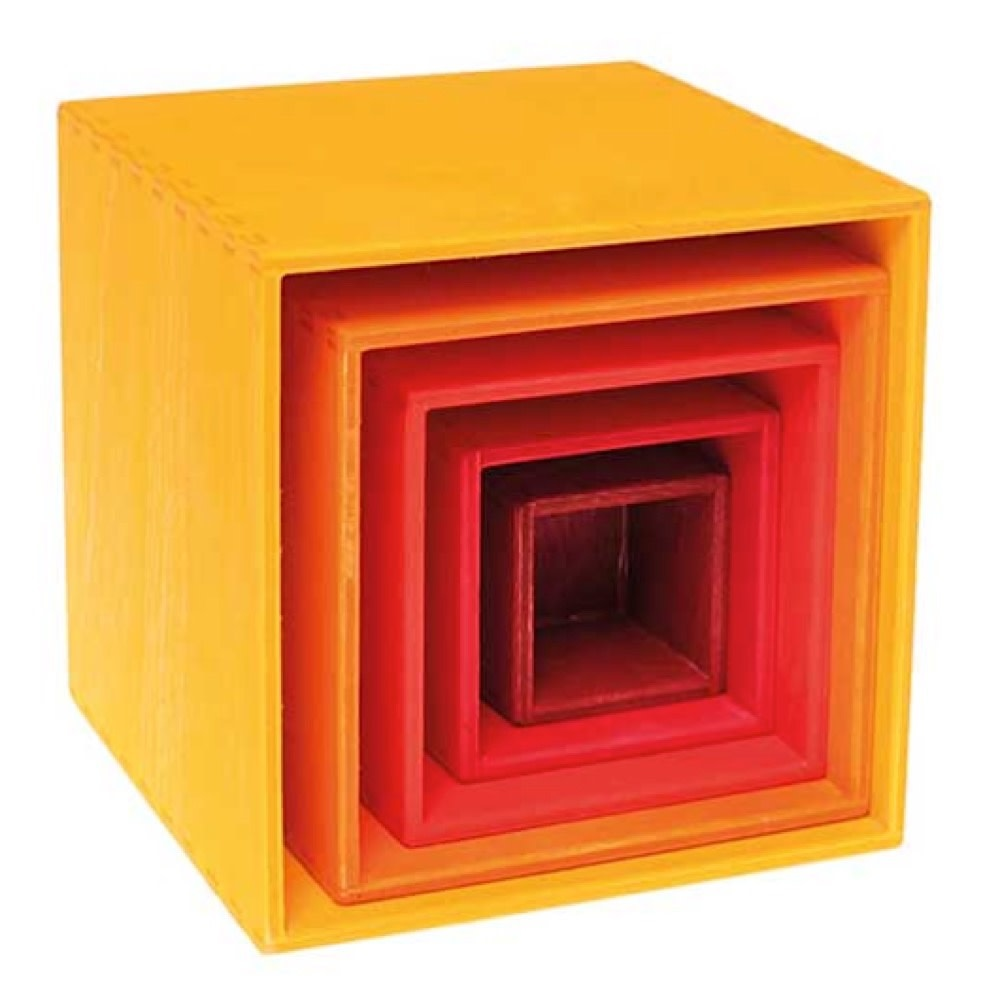 Grimms Small Set of 5 Boxes - Yellow