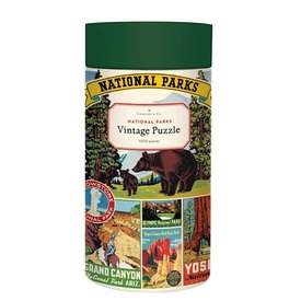 Cavallini Papers & Co., Inc. Cavallini Jigsaw Puzzle - National Parks - 1000 Pieces