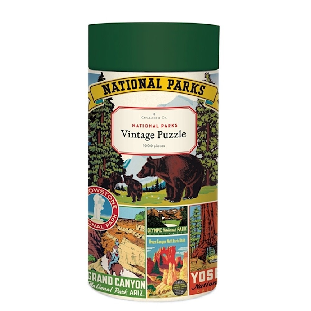 Cavallini Papers & Co., Inc. Cavallini Jigsaw Puzzle - National Parks - 1000 Pieces