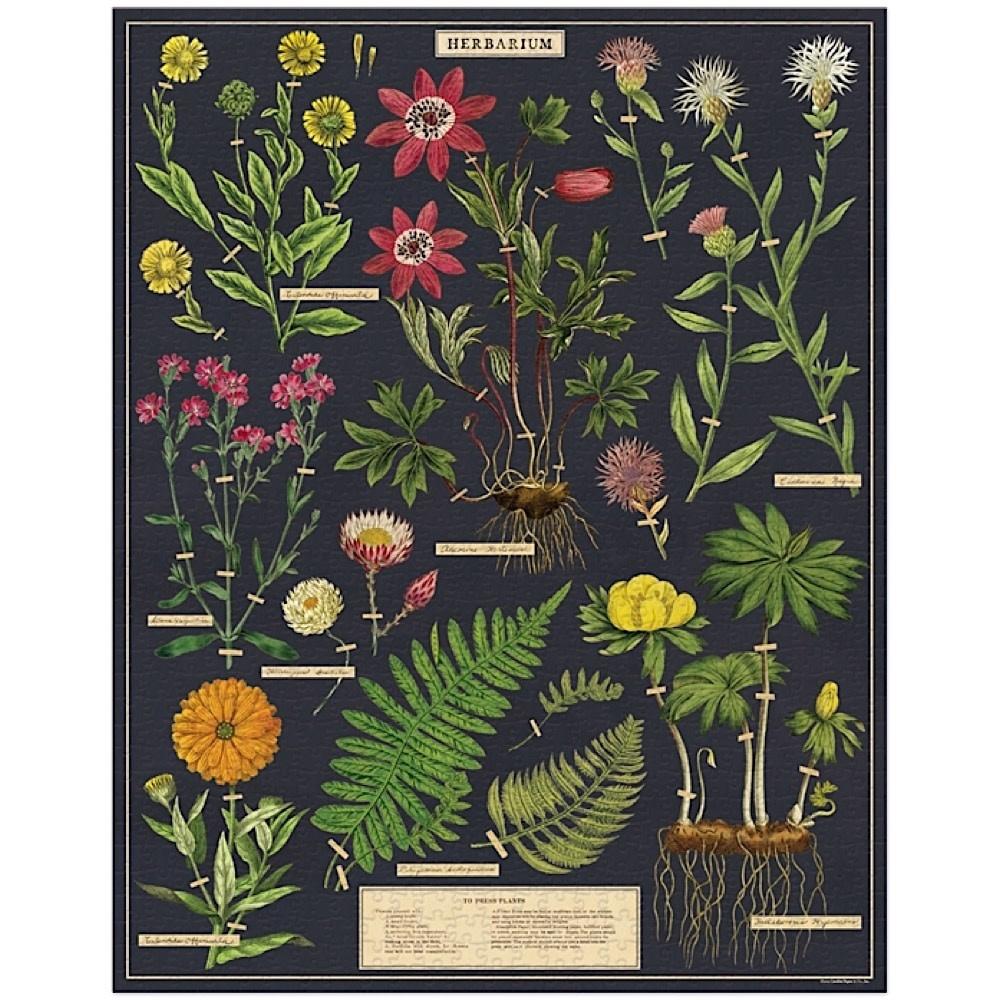 Cavallini Jigsaw Puzzle - Herbarium - 1000 Pieces