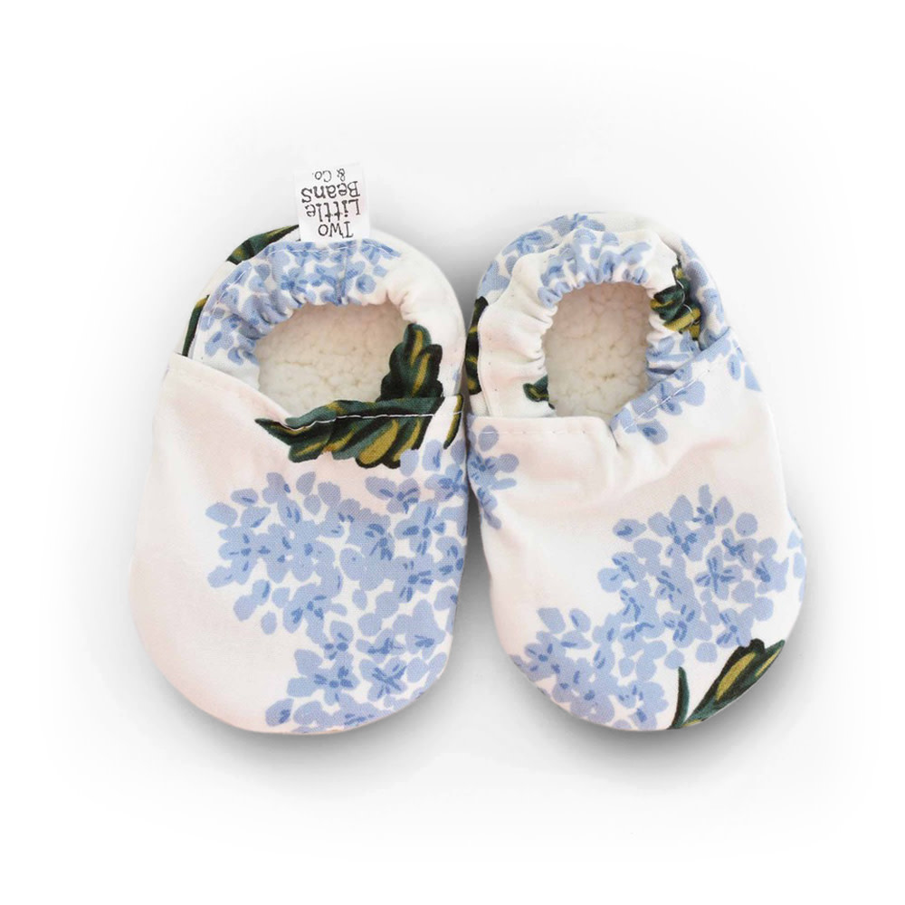 Two Little Beans Baby Booties - Hydrangea