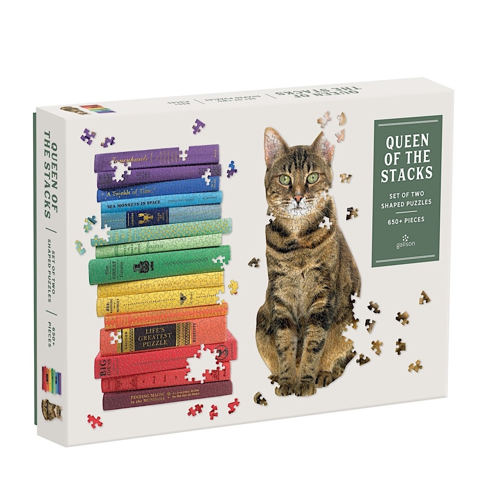 Queen of the Stacks Set of Two Shaped Jigsaw Puzzle Set - 650 Pieces