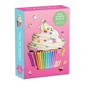 Galison Mudpuppy You're Sweet Cupcake Shaped Mini Puzzle - 100 Pieces
