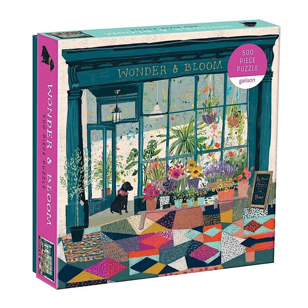 Galison Mudpuppy Wonder & Bloom 500 Piece Jigsaw Puzzle