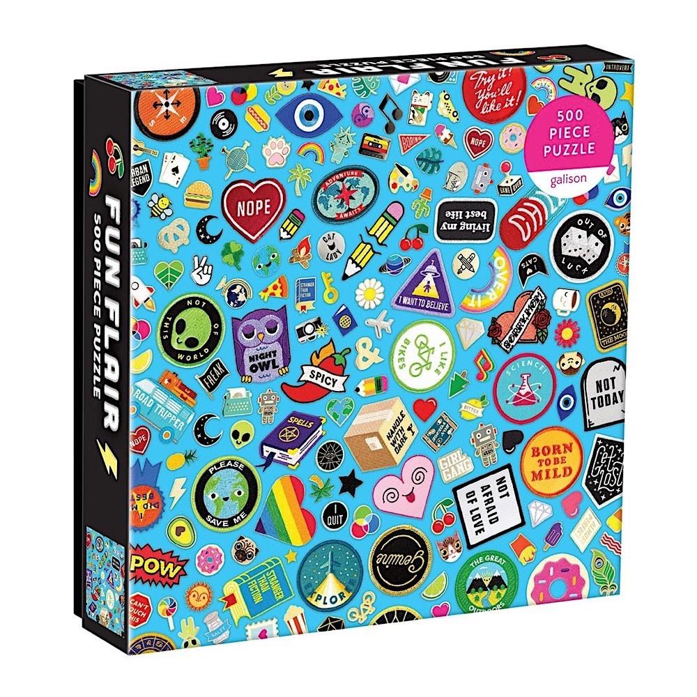 Galison Mudpuppy Fun Flair Jigsaw Puzzle - 500 Piece