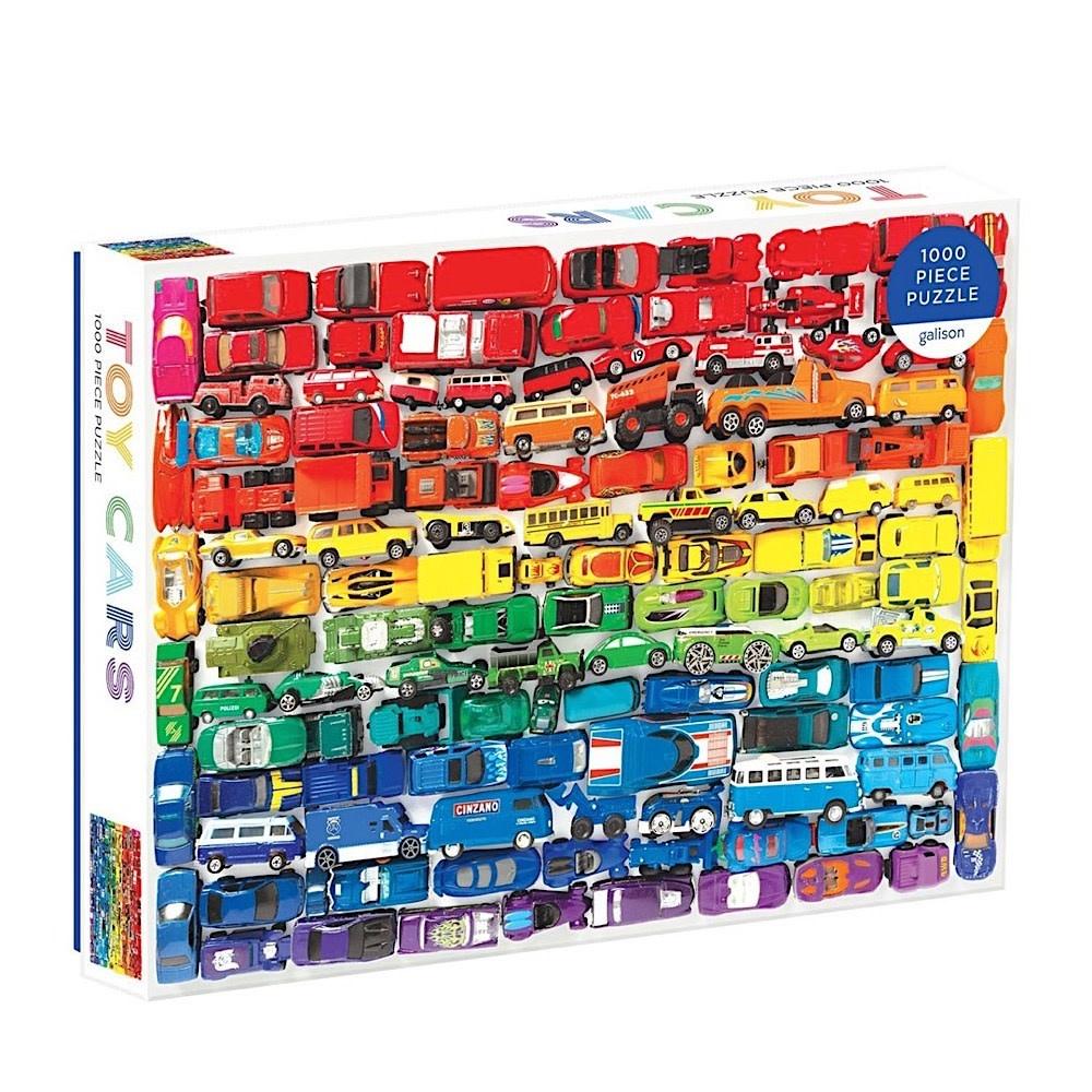 Galison Mudpuppy Rainbow Toy Cars 1000 Piece Jigsaw Puzzle