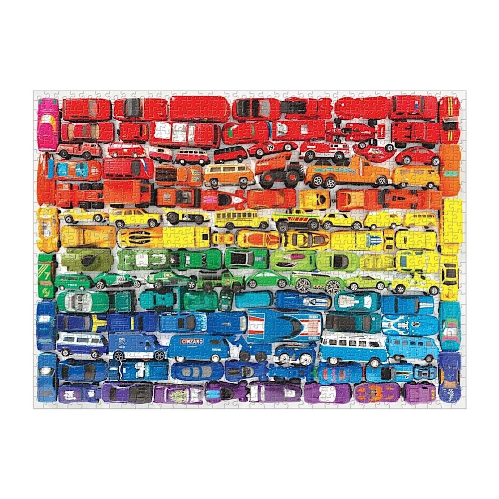 Rainbow Toy Cars 1000 Piece Jigsaw Puzzle