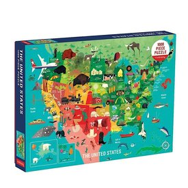 Mudpuppy The United States 1000 Piece Family Puzzle