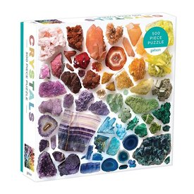 Galison Mudpuppy Rainbow Crystals 500 Piece Jigsaw Puzzle