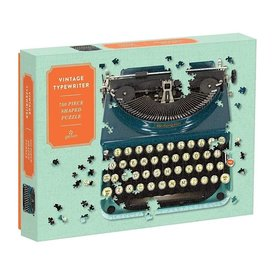 Galison Mudpuppy Vintage Typewriter Shaped Jigsaw Puzzle - 750 Piece