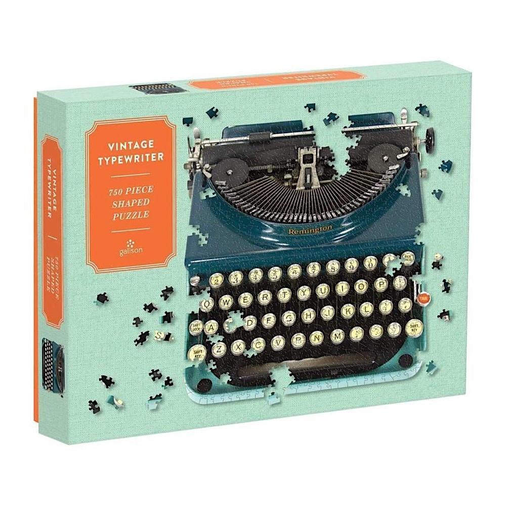 Galison Mudpuppy Vintage Typewriter Shaped Jigsaw Puzzle - 750 Piece