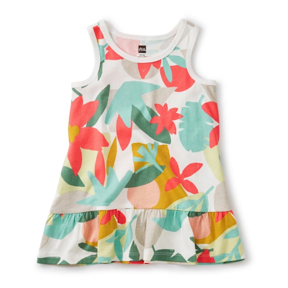 Tea Collection Tank Baby Dress - Oasis Floral