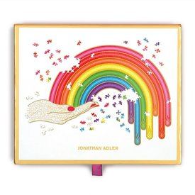 Galison Mudpuppy Jonathan Adler Rainbow Hand 750 Piece Shaped Jigsaw Puzzle