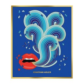 Galison Mudpuppy Jonathan Adler 750 Piece Lips Shaped Jigsaw Puzzle