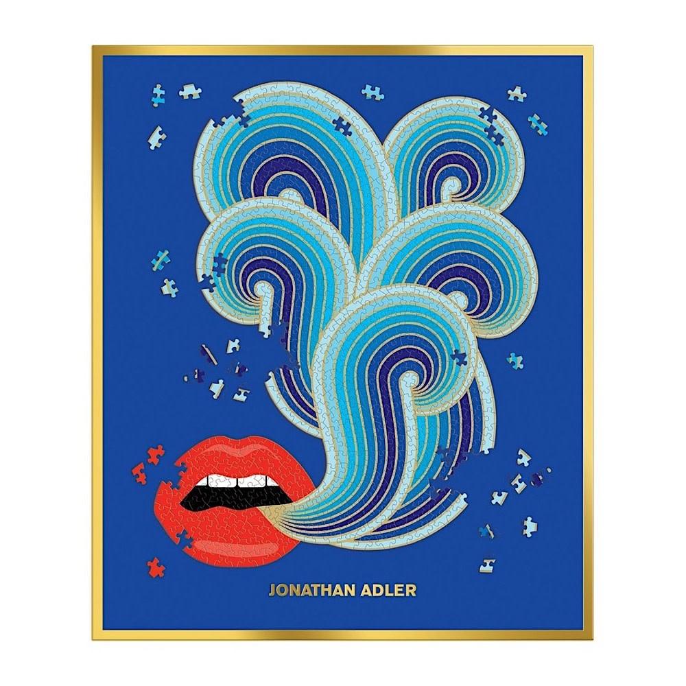 Jonathan Adler 750 Piece Lips Shaped Jigsaw Puzzle