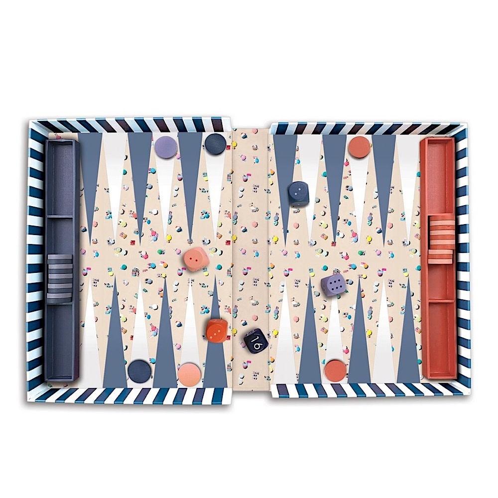 Galison Mudpuppy Gray Malin The Beach Backgammon