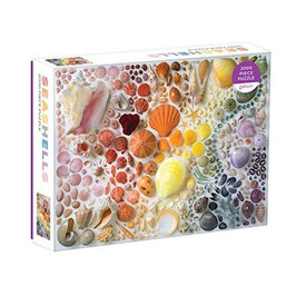 Galison Mudpuppy Rainbow Seashells 2000 Piece Puzzle