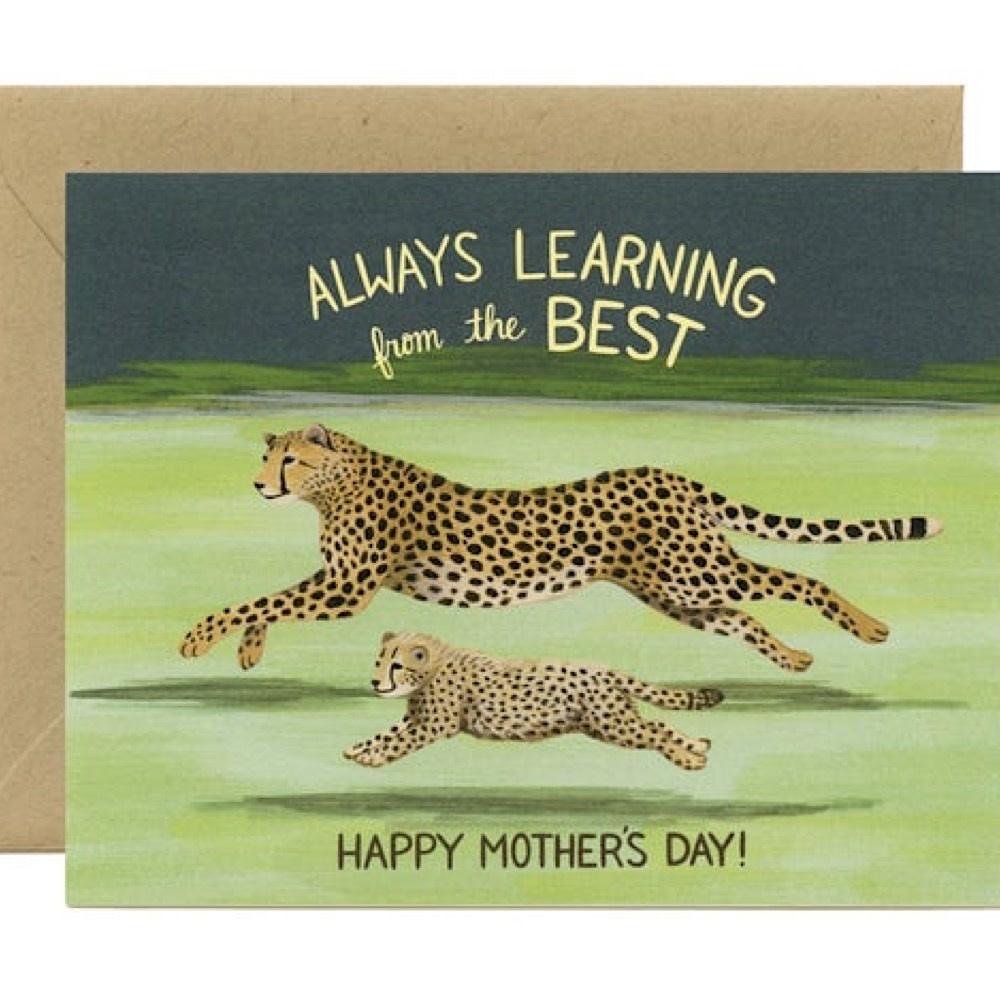 Yeppie Paper Cheetah Mom Card