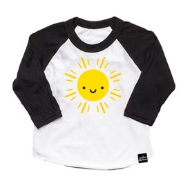 Whistle & Flute Whistle & Flute - Kawaii Sun Baseball T-Shirt