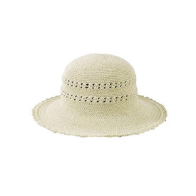 "San Diego Hat Company Crochet Cotton Hat 3"" Brim - Natural"