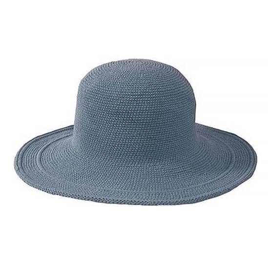 "San Diego Hat Company Crochet Hat 4"" Brim - Denim"