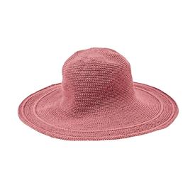 "San Diego Hat Company Crochet Hat 4"" Brim - Rose"
