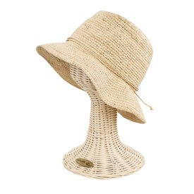 San Diego Hat Company Crochet Raffia Bucket Hat- Natural
