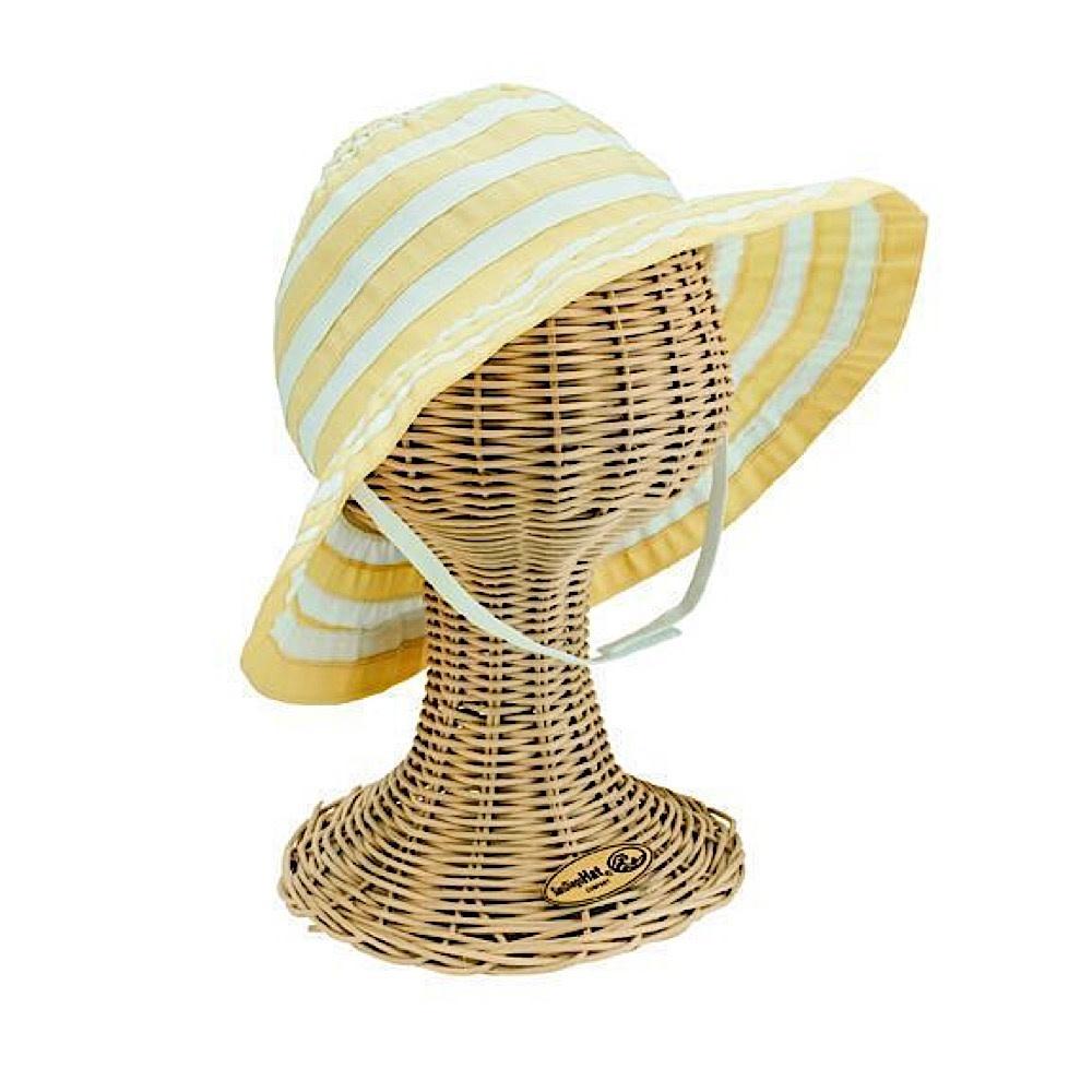 Kid's Floppy Ribbon Hat - Yellow - 2-4Y
