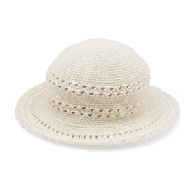 San Diego Hat Company Kids Crochet Cotton Hat - Natural - 3-6Y