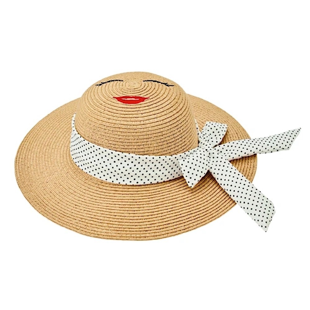 San Diego Hat Company Kids Sun Hat - Natural with Face